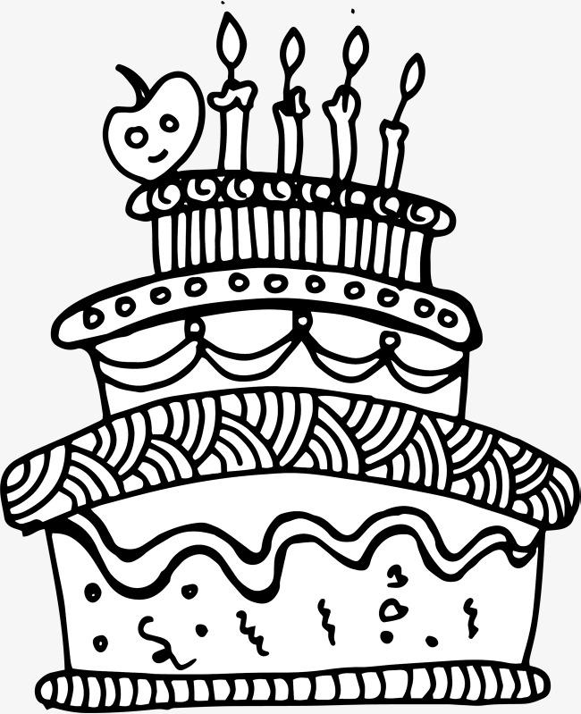 650x799 Cartoon Hand Painted Birthday Cake, Vector Png, Cake, Birthday