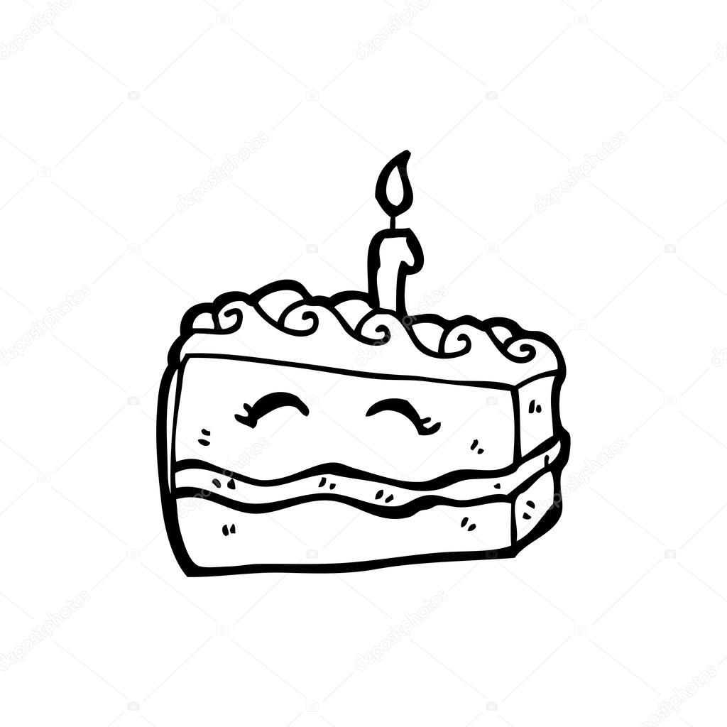 1024x1024 Happy Birthday Cake Cartoon Stock Vector Lineartestpilot