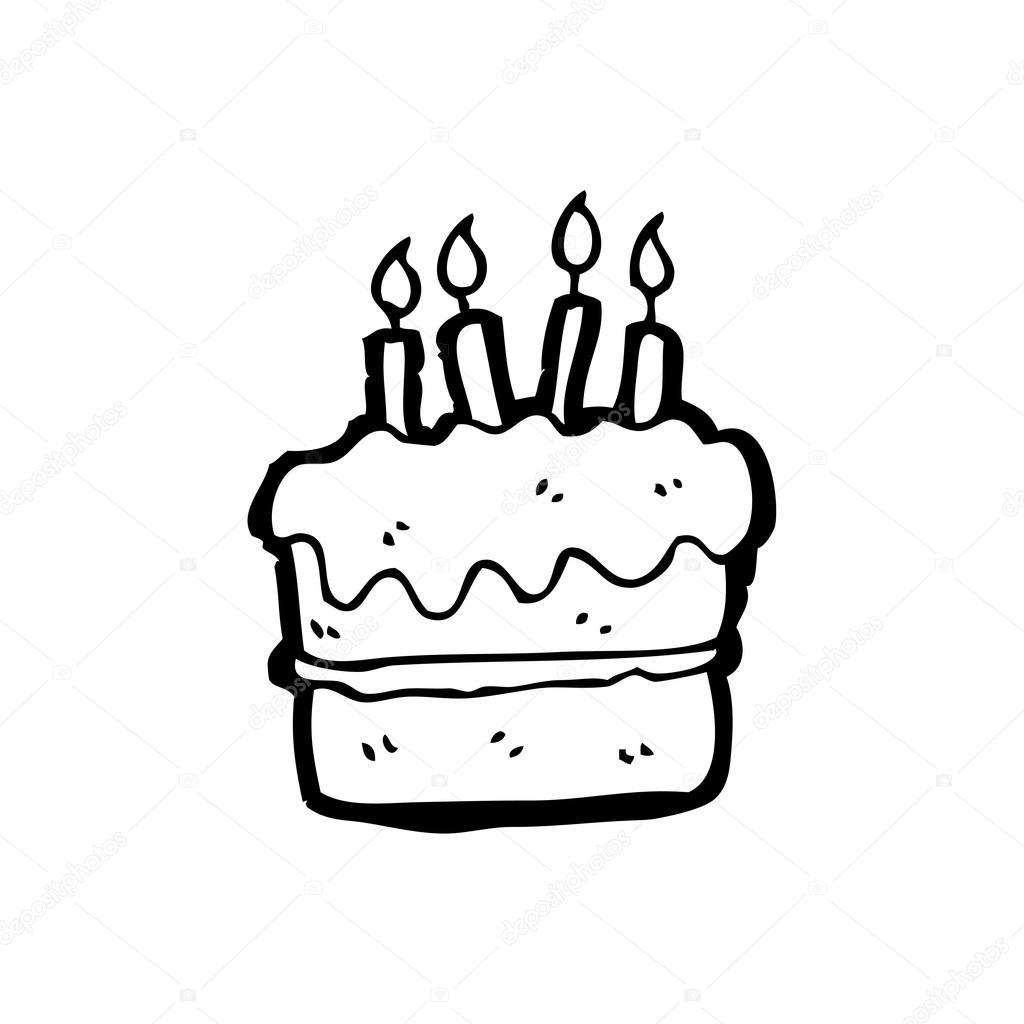 1024x1024 Birthday Cake Cartoon Stock Vector Lineartestpilot