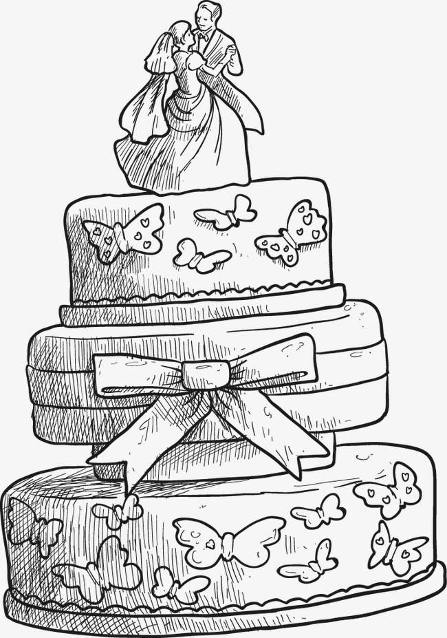 650x927 Birthday Cake Illustration, Cake, Cartoon Cake, Couple Cake Png
