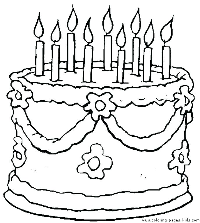 Birthday Cake Drawing Images