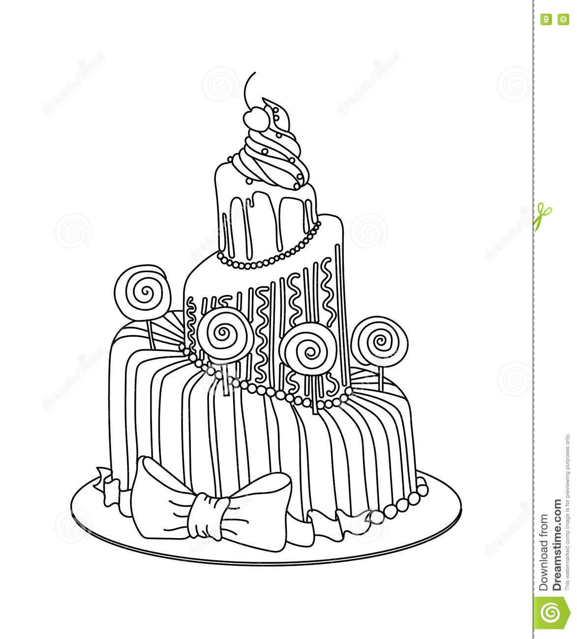 1173x1300 Drawn Cake Sketched