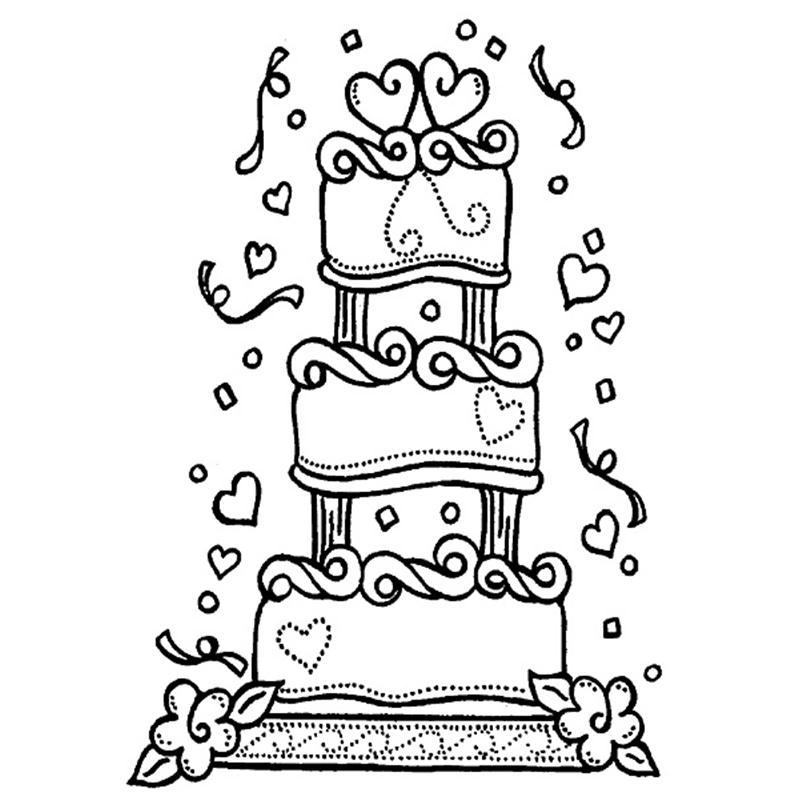800x800 Drawn Wedding Cake Birthday Cake