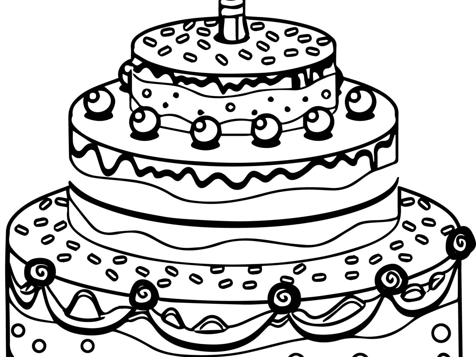 1600x1200 Happy Birthday Coloring Page Elegant Colour Drawing Free Excellent