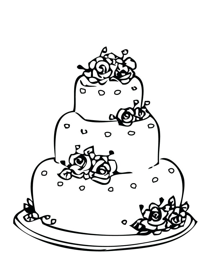 736x952 Birthday Cake Coloring Pages Free Best Cakes Images On Drawings