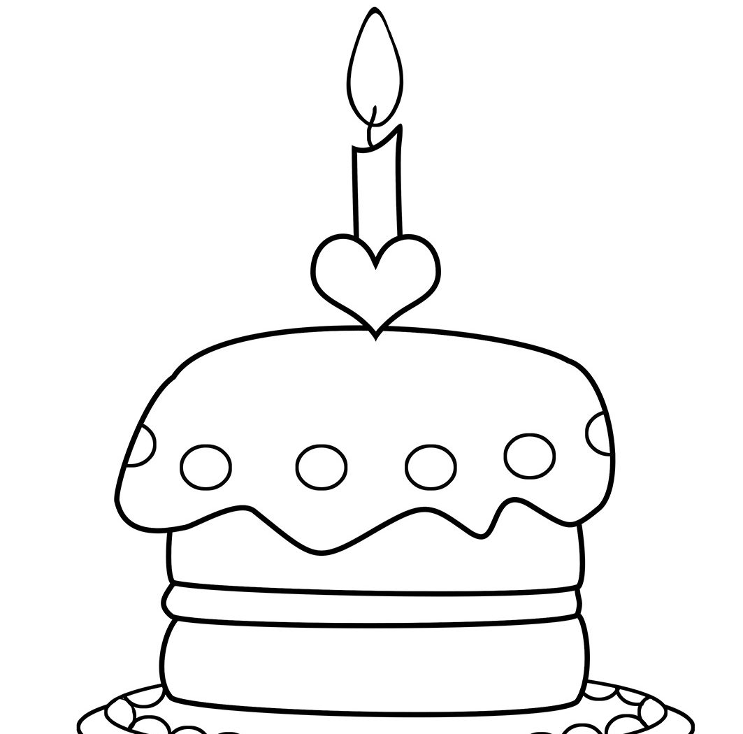 1063x1050 Birthday Cake Years Coloring Pages Hellokids Excellent For Kids