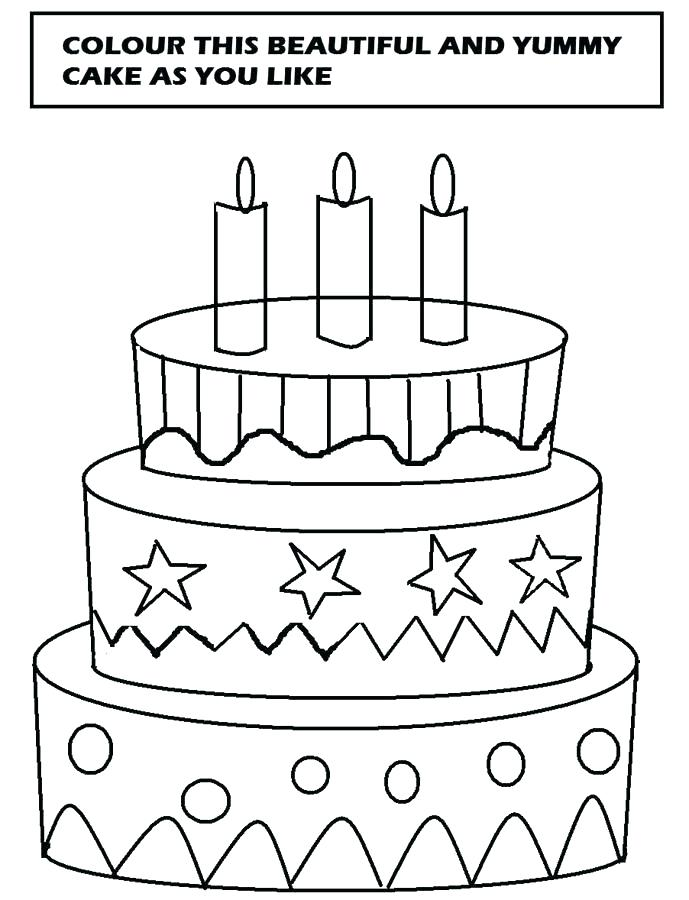 689x900 Cake Coloring Page Free Birthday Cake Coloring Pages To Print