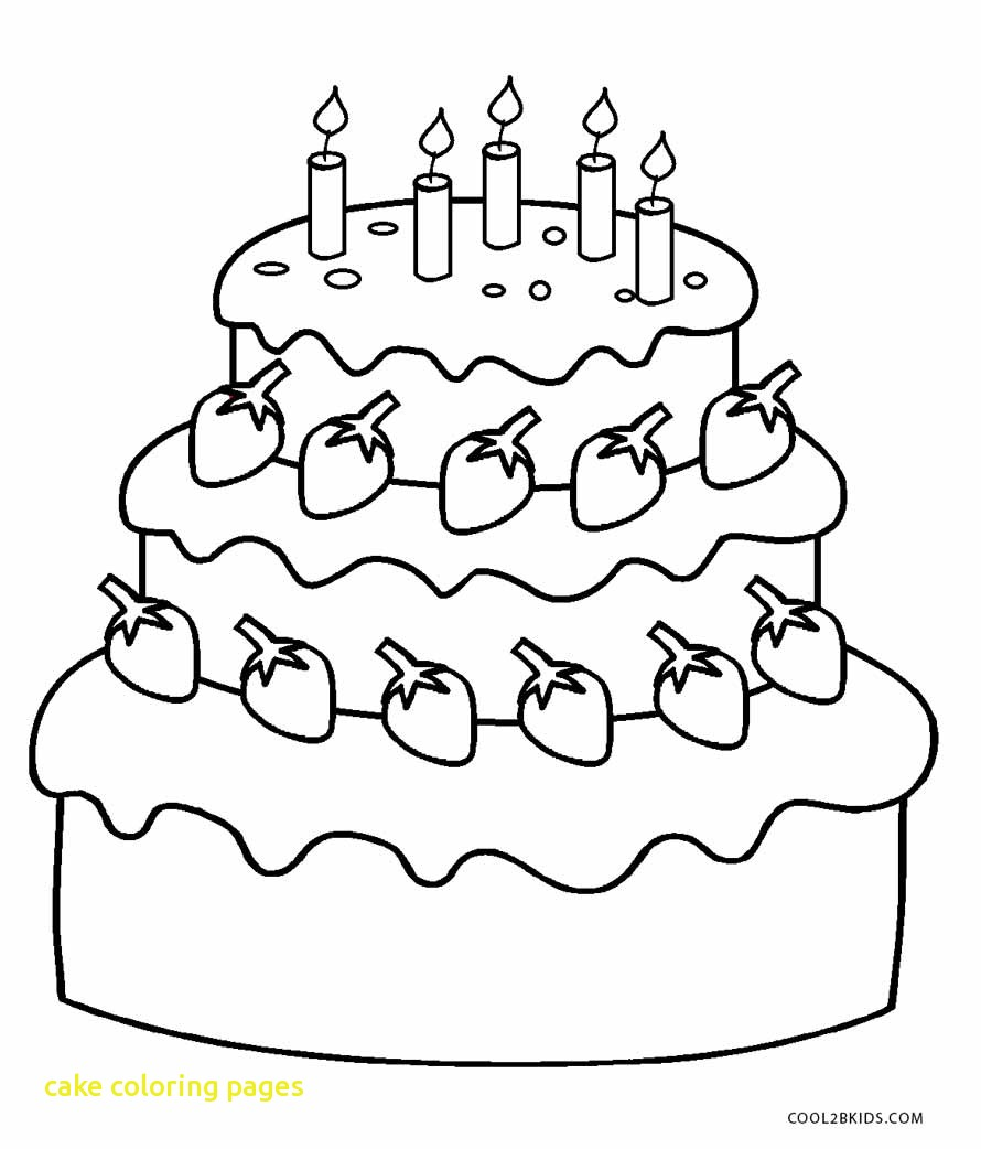890x1042 Cake Coloring Pages With Free Printable Birthday Cake Coloring
