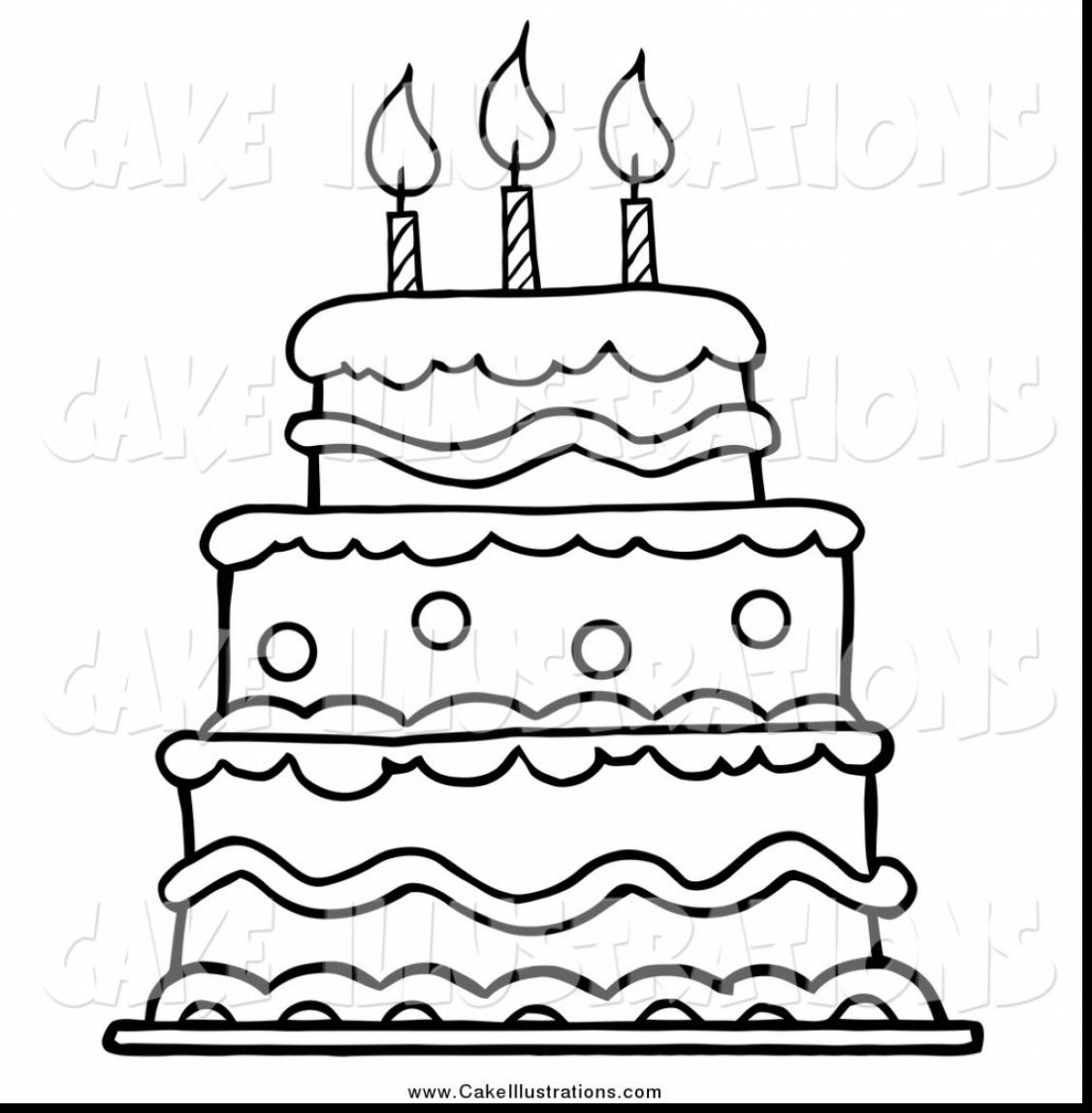 1126x1148 Cute Birthday Cake Coloring Page Excellent Pages For Kids Picture