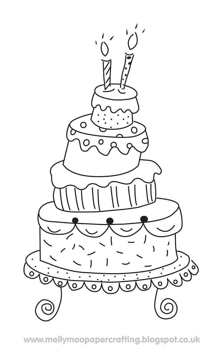 736x1155 Drawn wedding cake pencil drawing