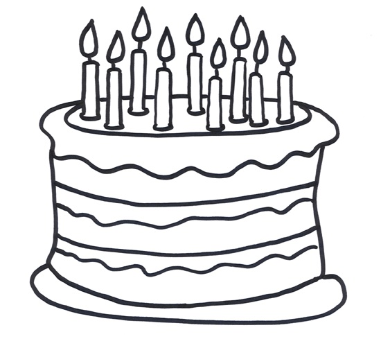 550x489 Coloring Sheet Of A 9th Birthday Cake For Kids