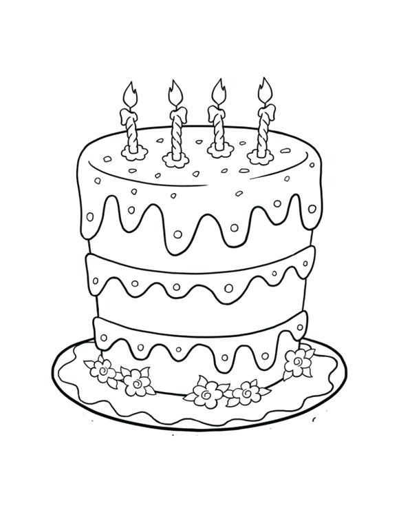 580x750 Birthday Cake Coloring Page Pdf Free Printable Pages For Kids