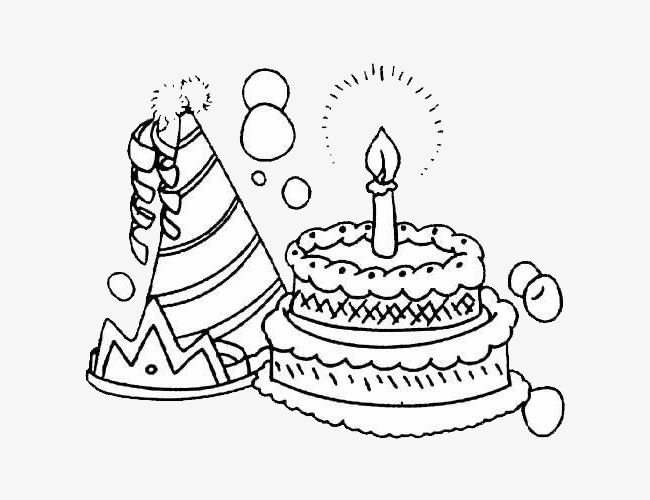 650x500 Birthday Cake, A Triangular Hat, Cake, Candle Png Image For Free