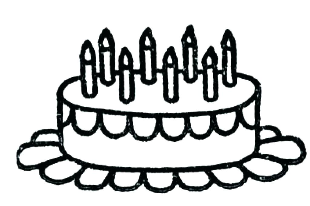 1024x682 Cake Pictures To Color Happy Birthday Cake Coloring Pages