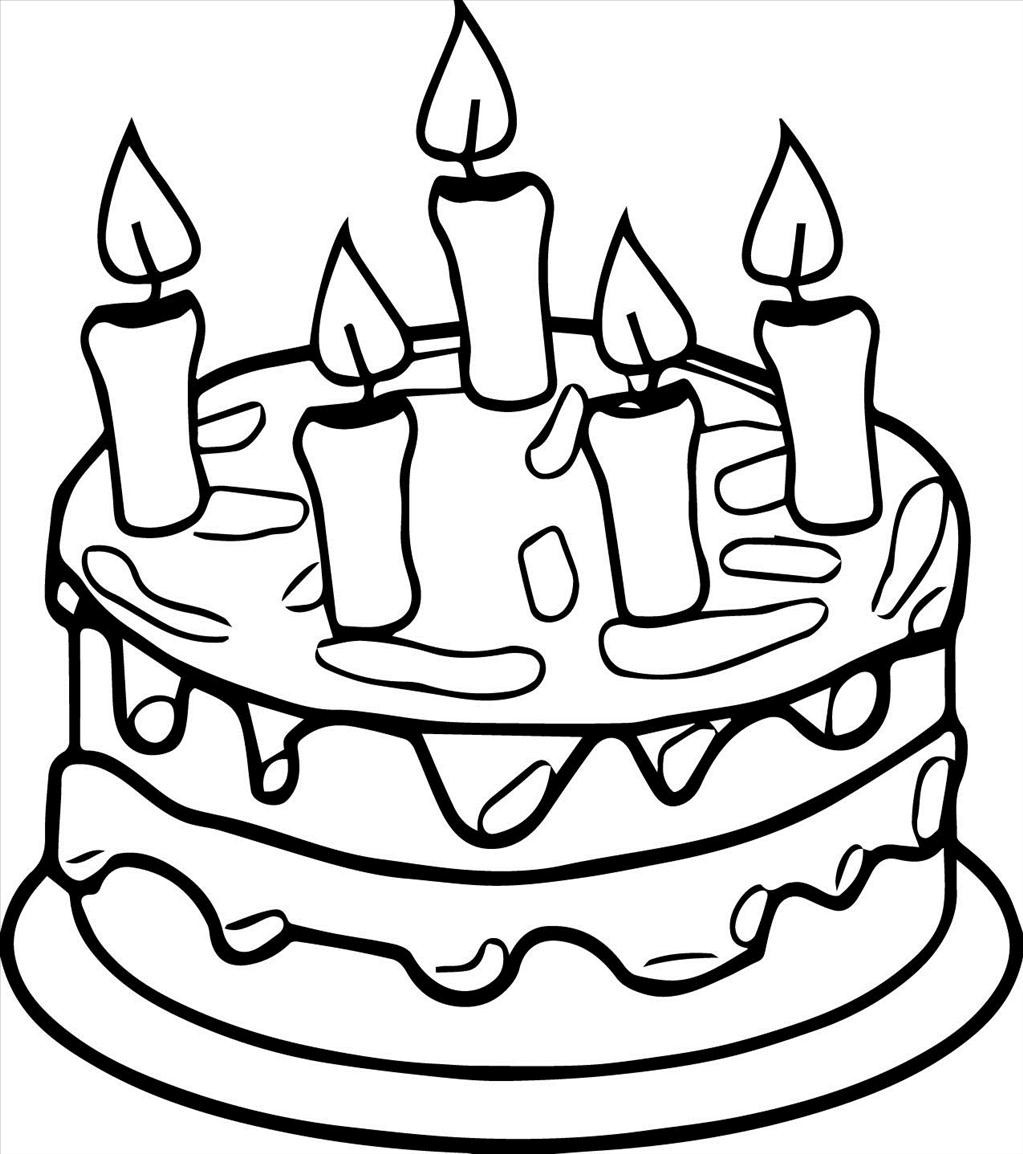 1023x1154 Good Birthday Cake Coloring Page Picture Unknown Resolutions