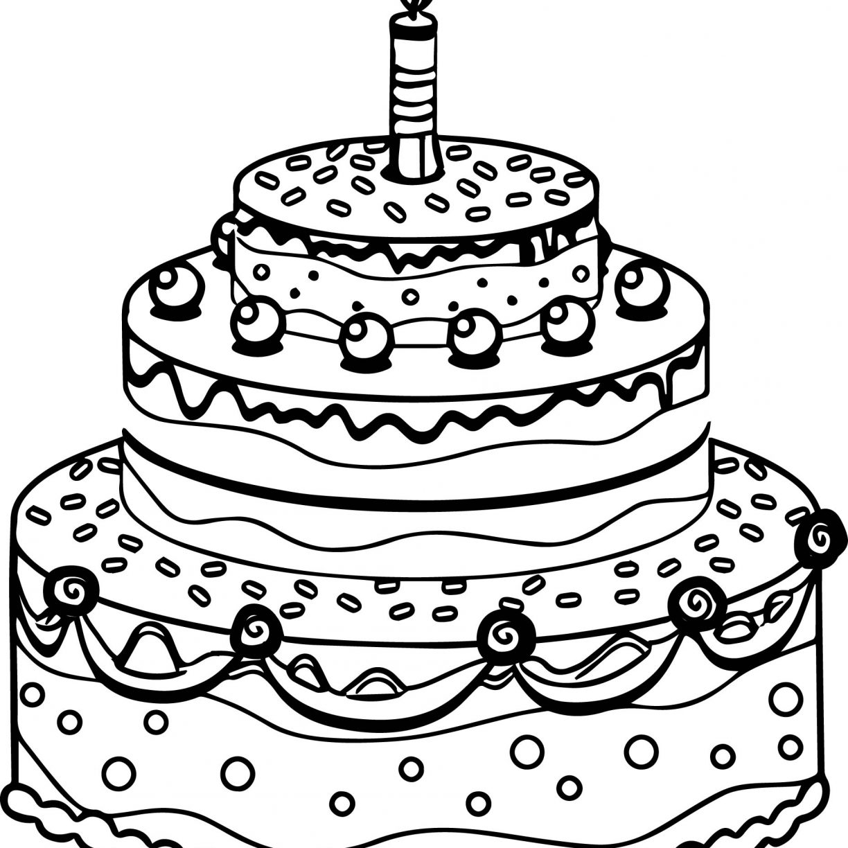 1224x1224 Happy Birthday Coloring Page Elegant Colour Drawing Free Excellent