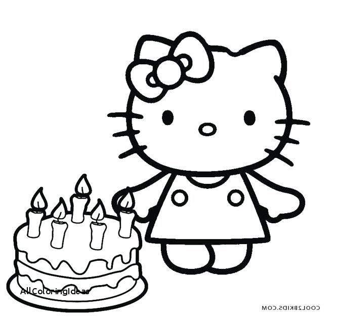 670x626 Hello Kitty Birthday Coloring Page Hello Kitty Birthday Coloring