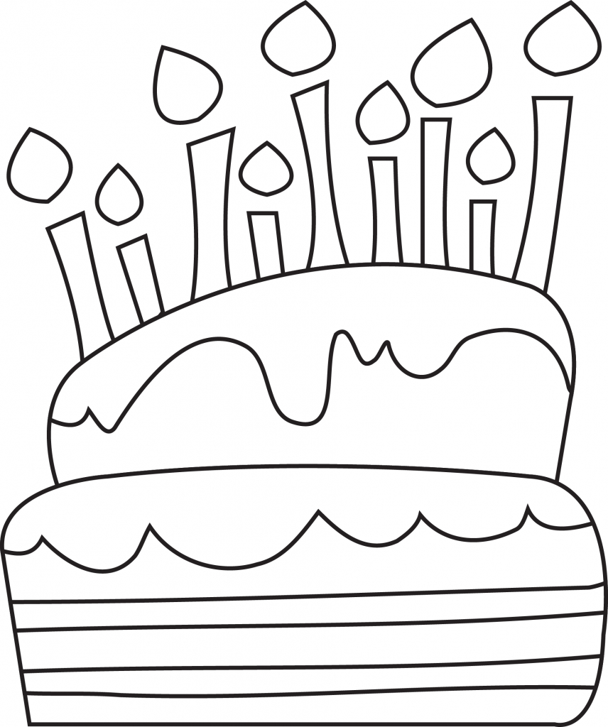Birthday Cake Line Drawing At Getdrawings Com Free For Personal