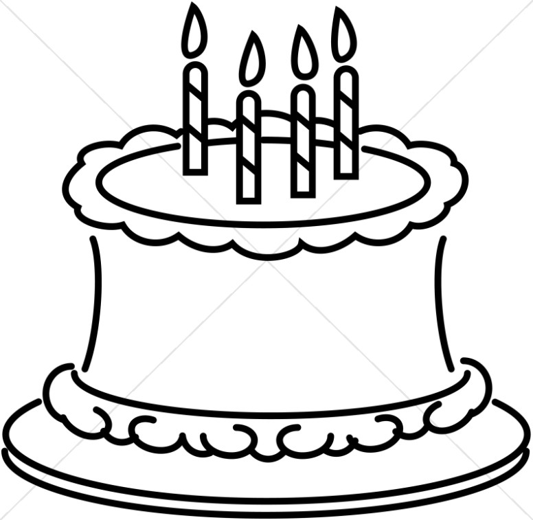 birthday cake line drawing at getdrawings com free for personal rh getdrawings com birthday cake clip art black and white free birthday party clipart black and white