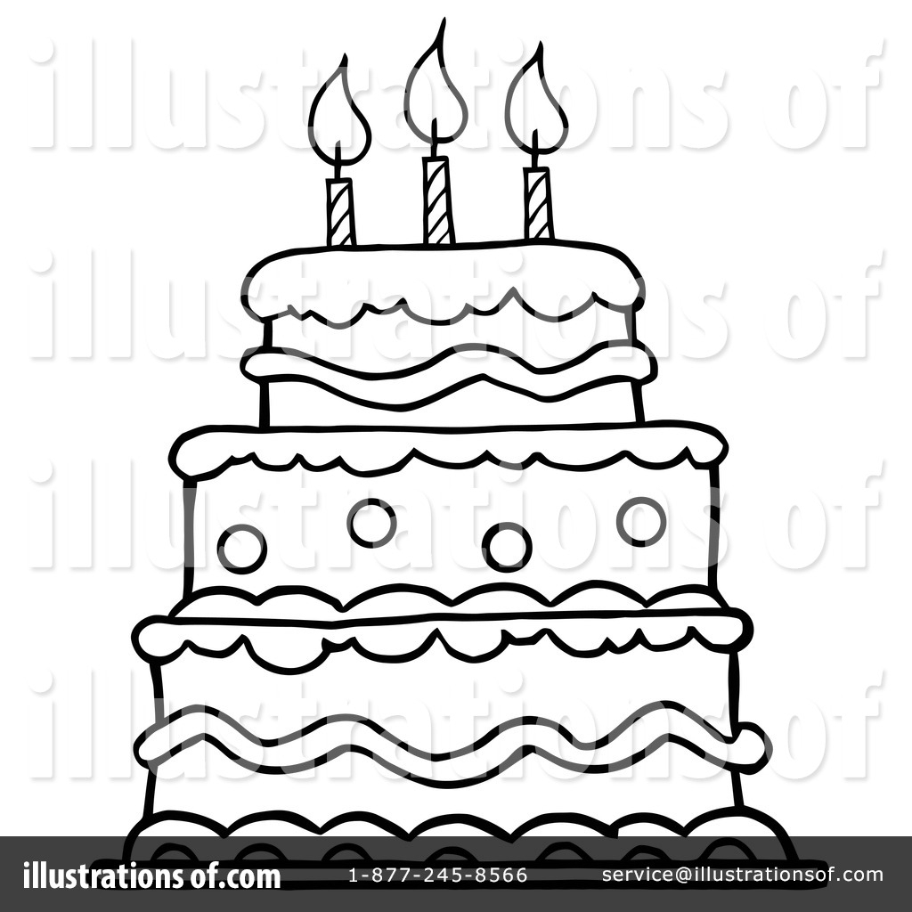 Birthday Cake Line Drawing At Getdrawings Free For Personal