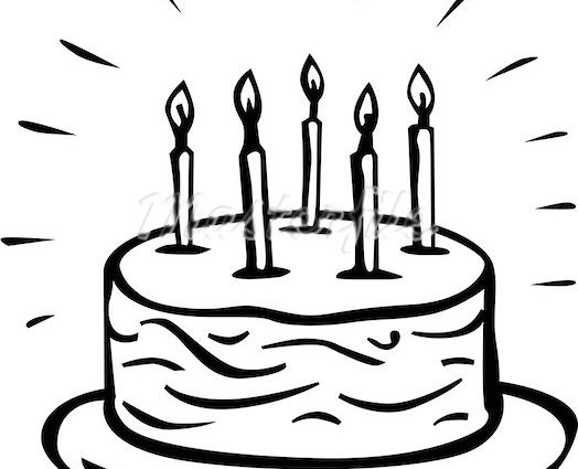 524x425 Birthday Cake Sketch Birthday Cake Drawing Free Download Clip Art
