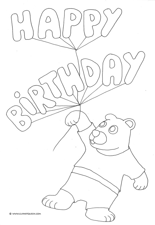 539x783 birthday coloring pages