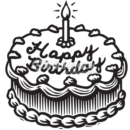 414x414 Black Clipart Birthday Cake Pencil And In Color