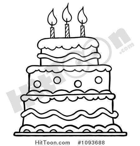 450x470 Cake Clipart Line Art