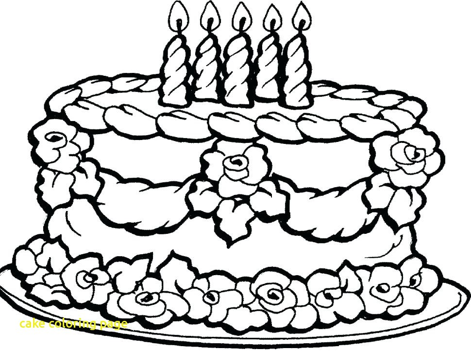 970x722 Cake Coloring Page With Cake Clipart Coloring Page Pencil And