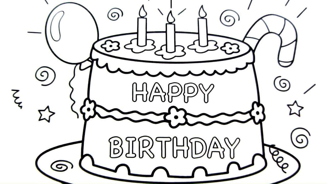 1280x720 Drawing Of Happy Birthday Happy Birthday Drawing In Pencil Pencil