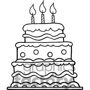 300x300 Drawn Wedding Cake Layered Cake