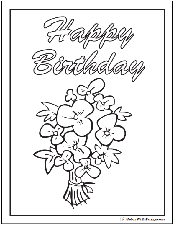 590x762 55 birthday coloring pages customizable pdf happy birthday
