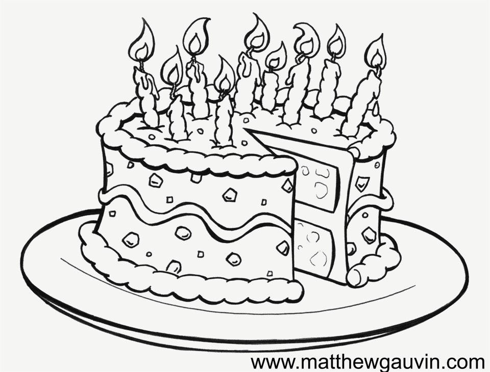 960x730 Great Pictures Of Birthday Cakes Drawings Drawn Cake Birthday Cake