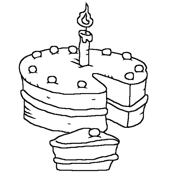 600x600 Birthday Candle Coloring Pages For Kids