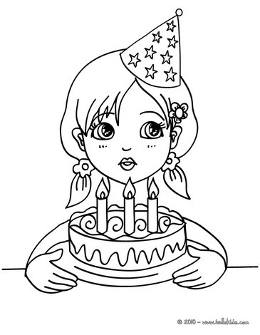 365x470 Birthday Coloring Pages
