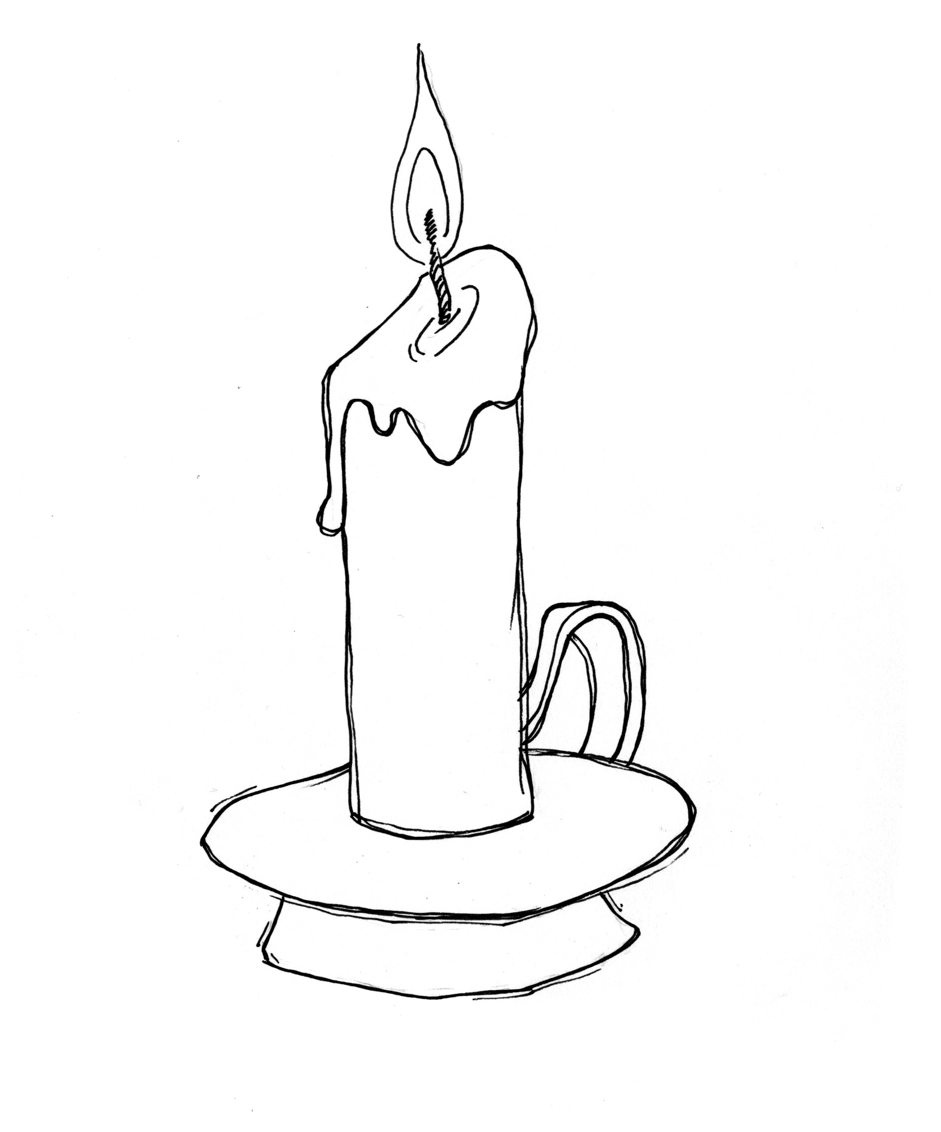 1885x2267 Candle Drawing