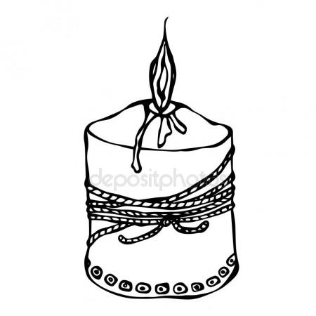 450x450 Ball Pen Sketch Birthday Cake Stock Vector Vectortatu