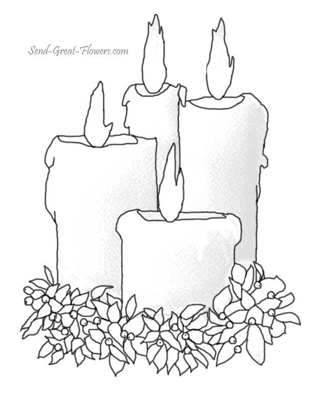 612x792 Fancy Design Ideas Coloring Pages Of Candles Christmas Coloring