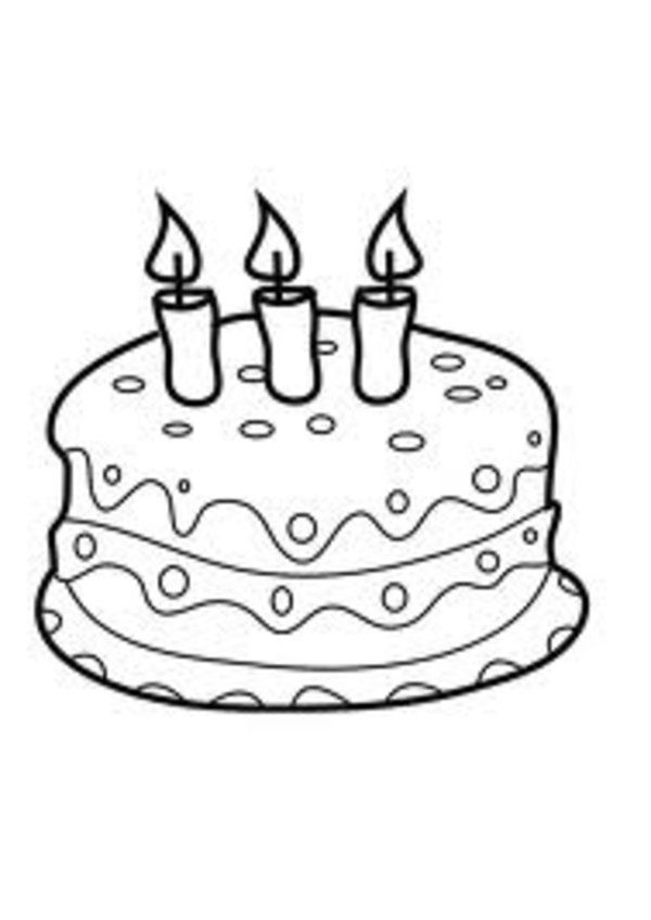 600x848 Candle Birthday Cake Coloring Pages Smile Coloring