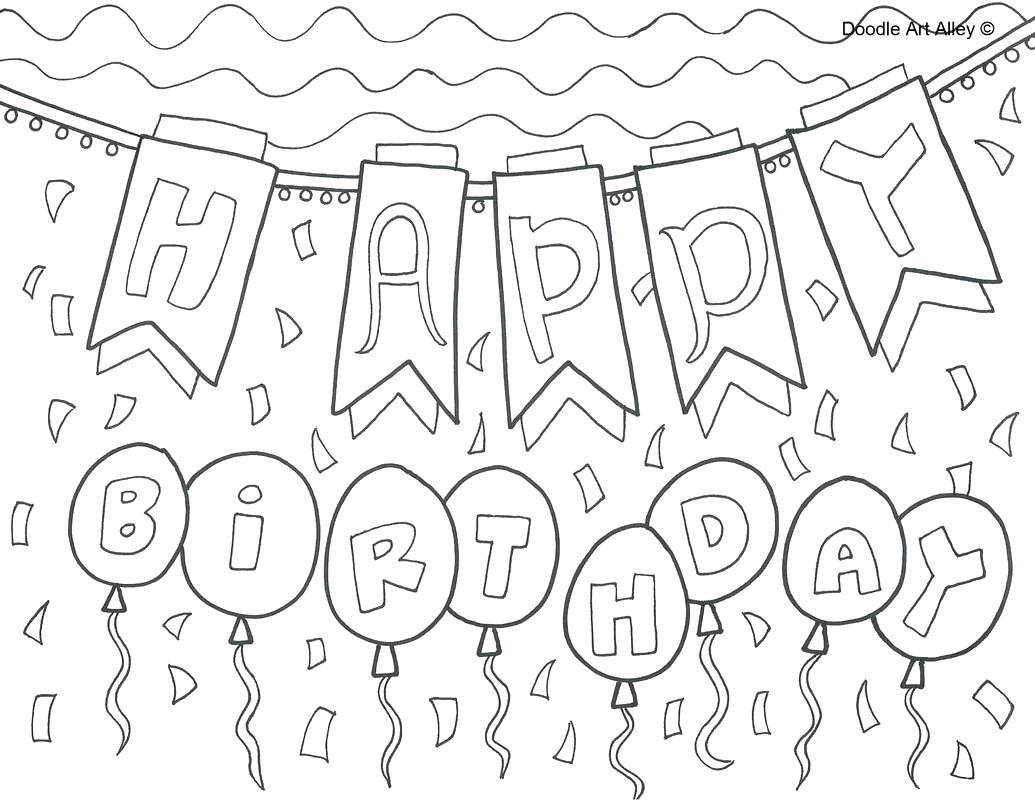 1035x800 Coloring Birthday Candle Coloring Page Picture Happy Cake No