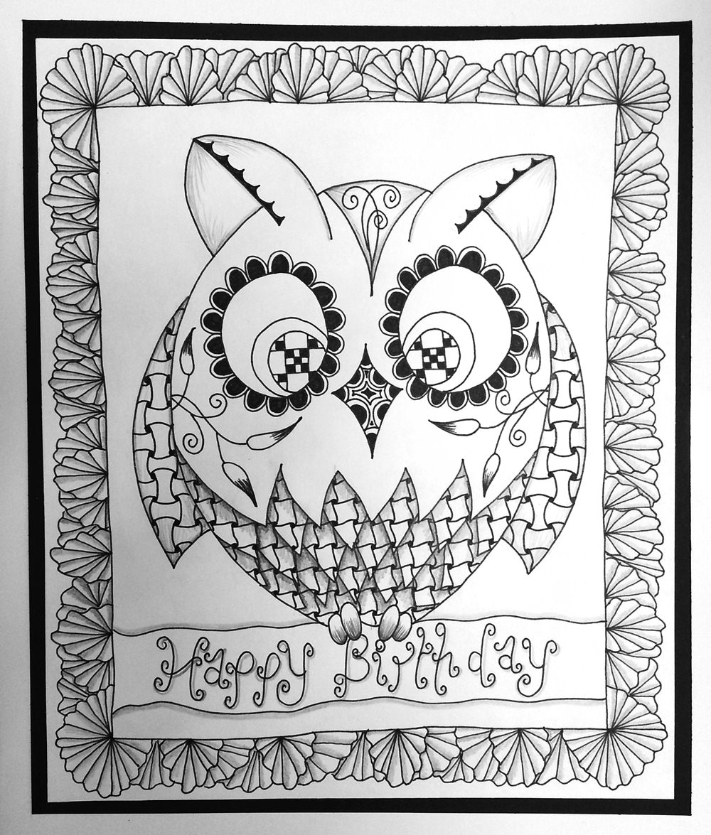 Birthday Card Drawing At Getdrawings Free For Personal Use