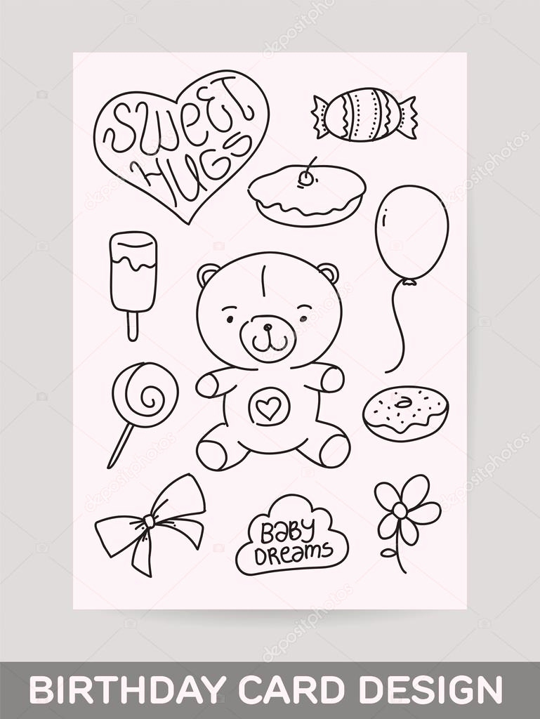 769x1024 Happy Birthday Card Drawing Lovely Ideas