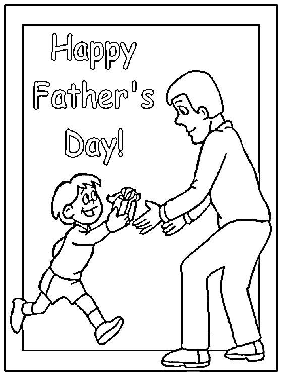 567x756 Lots Of Free Colouring Pages Card Fronts For Dad Birthdayhappy