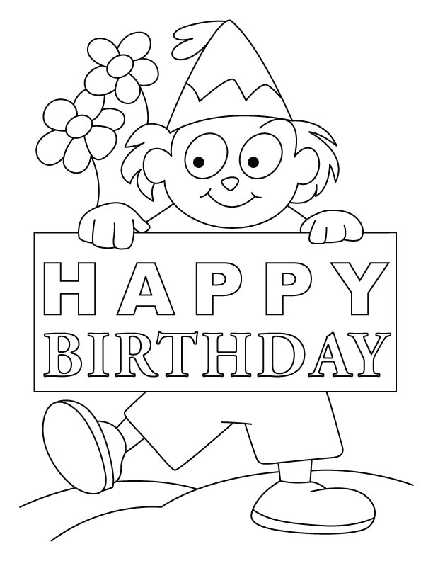 612x792 Trend Coloring Page Birthday Card Cool Book Ga
