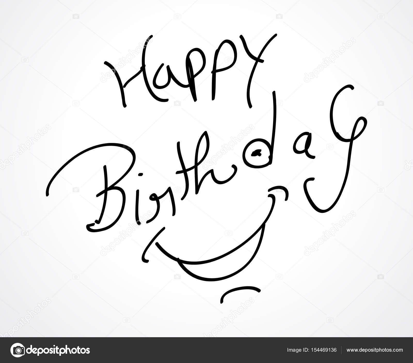 1600x1407 Hand Sketch Happy Birthday Card Design Stock Vector Gurukripa