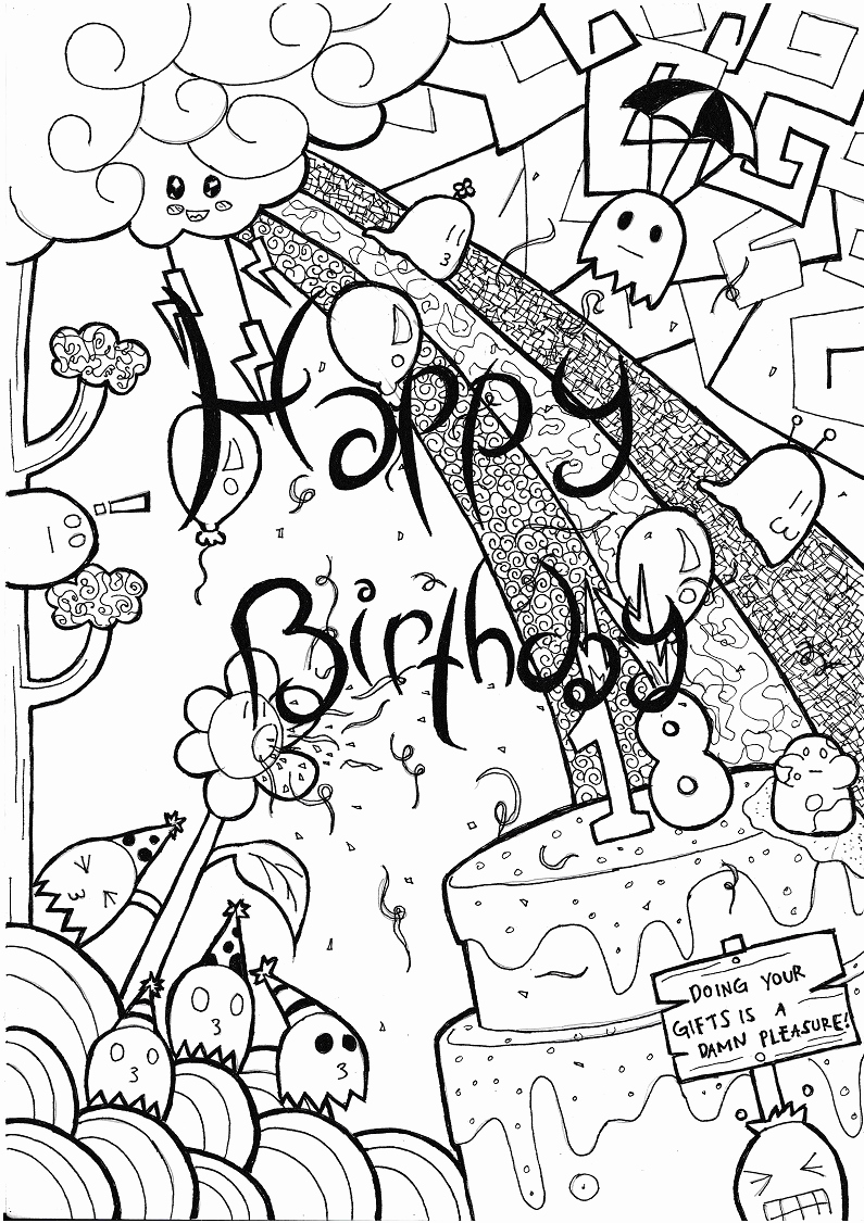795x1126 Birthday Card Drawings Unique Simple Hand Made By