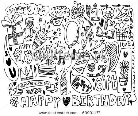 450x378 Happy Birthday Draw Vectores En Stock Y Arte Vectorial