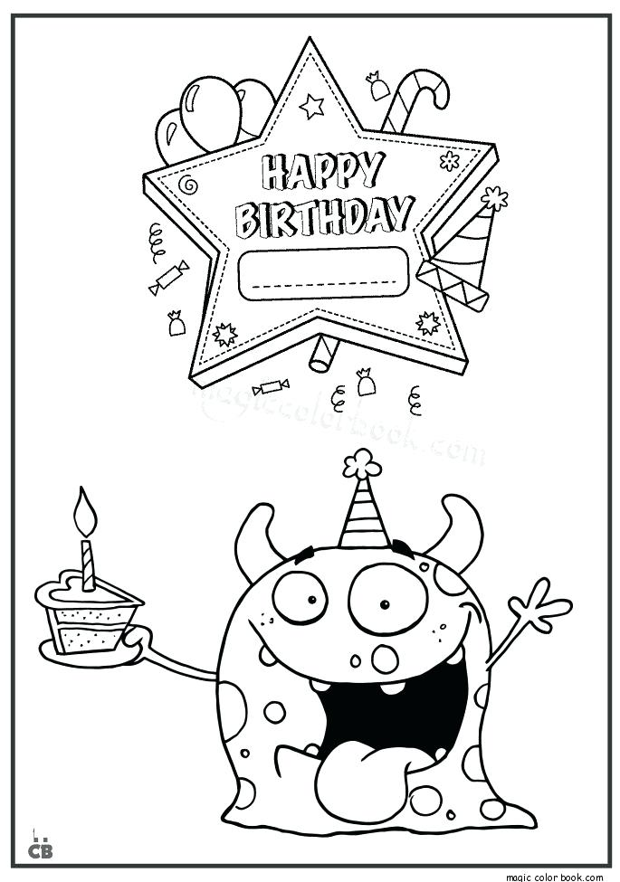 685x975 Birthday Coloring Cards Genesisar.co