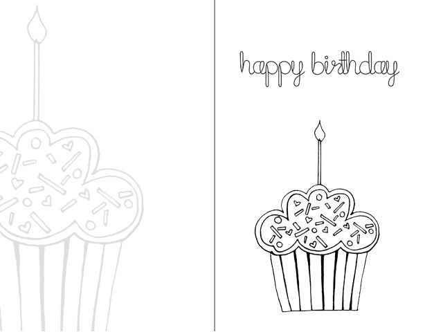 640x480 Birthday Card Unique Printable Cards To Color
