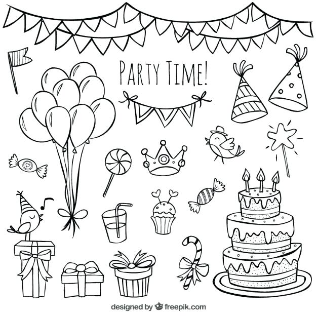 626x626 Birthday Decorations Drawings Best Doodle Ideas On Month Cards